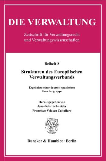 Cover: Strukturen des Europäischen Verwaltungsverbunds