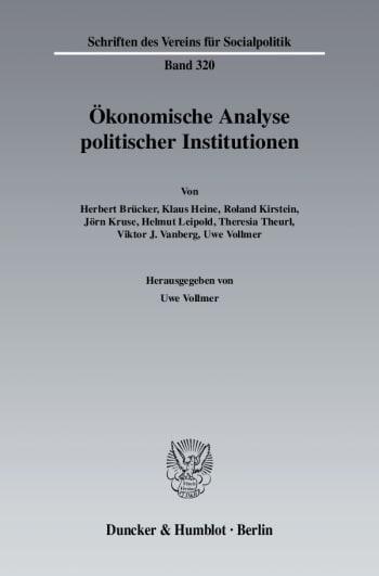 Cover: Ökonomische Analyse politischer Institutionen