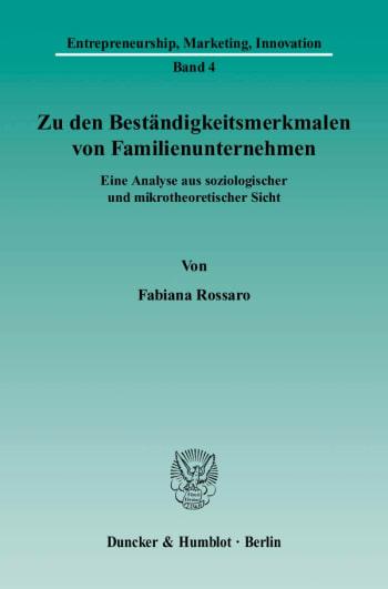 Cover: Zu den Beständigkeitsmerkmalen von Familienunternehmen