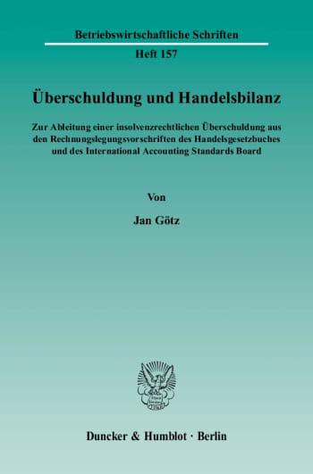 Cover: Überschuldung und Handelsbilanz