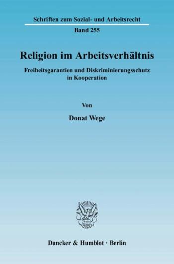 Cover: Religion im Arbeitsverhältnis