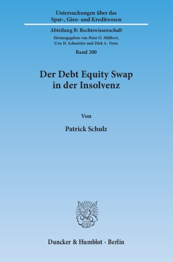Cover: Der Debt Equity Swap in der Insolvenz