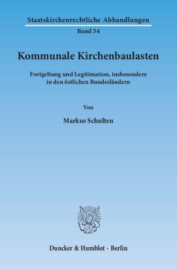 Cover: Kommunale Kirchenbaulasten