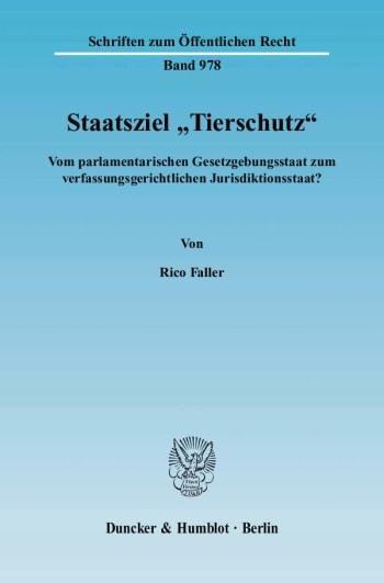 """Cover: Staatsziel """"Tierschutz"""""""