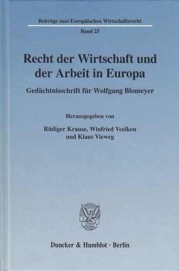 Cover: Recht der Wirtschaft und der Arbeit in Europa