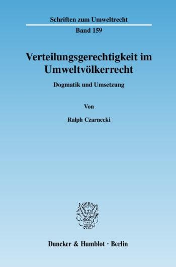Cover: Verteilungsgerechtigkeit im Umweltvölkerrecht