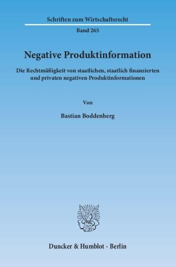 Cover: Negative Produktinformation