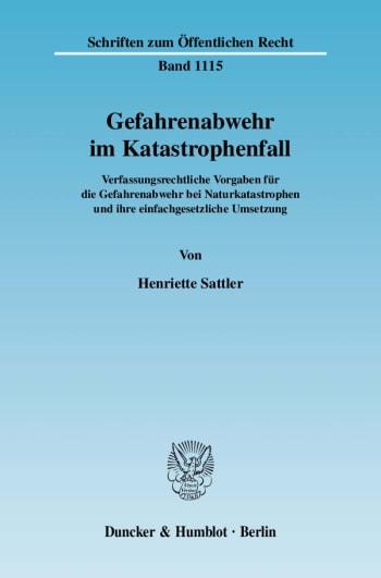 Cover: Gefahrenabwehr im Katastrophenfall