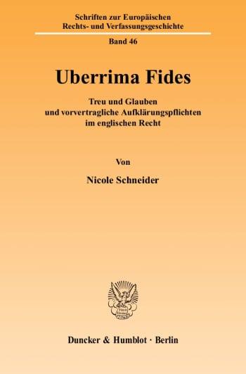 Cover: Uberrima Fides