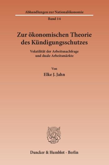 Cover: Abhandlungen zur Nationalökonomie (ANÖ)