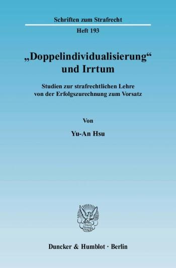"""Cover: """"Doppelindividualisierung"""" und Irrtum"""