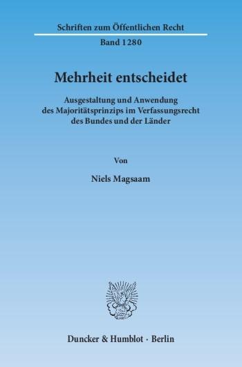 Cover: Mehrheit entscheidet
