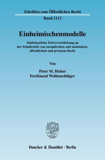 Cover: Einheimischenmodelle