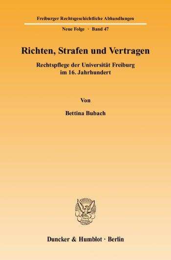 Cover: Richten, Strafen und Vertragen