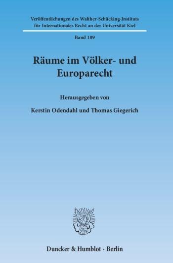 Cover: Räume im Völker- und Europarecht