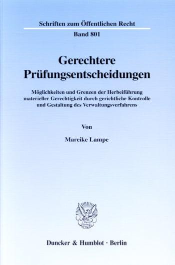 Cover: Gerechtere Prüfungsentscheidungen