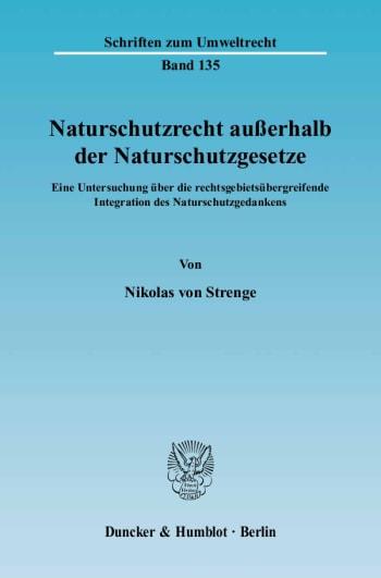 Cover: Naturschutzrecht außerhalb der Naturschutzgesetze