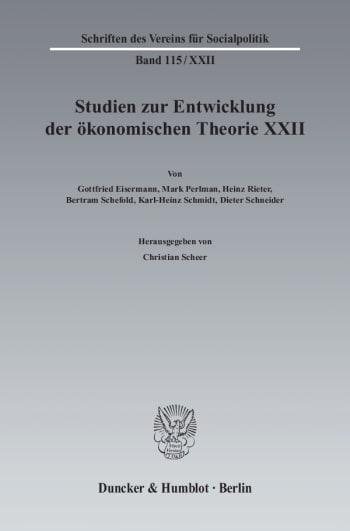 Cover: Ideen, Methoden und Entwicklungen der Geschichte des ökonomischen Denkens