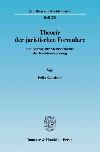 Cover: Theorie der juristischen Formulare