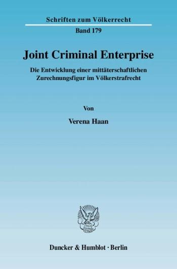 Cover: Joint Criminal Enterprise