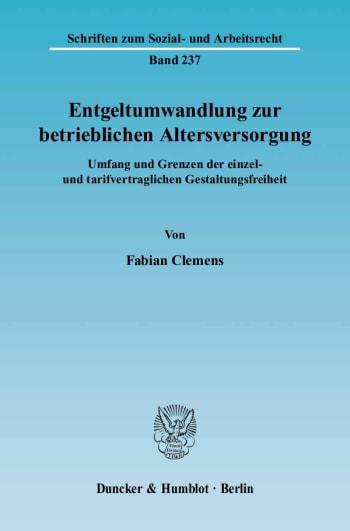 Cover: Entgeltumwandlung zur betrieblichen Altersversorgung