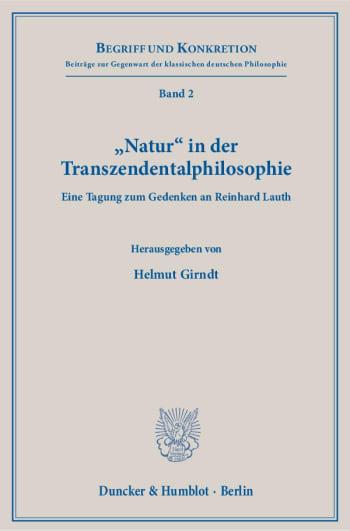 Cover: »Natur« in der Transzendentalphilosophie