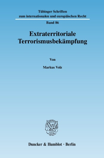 Cover: Extraterritoriale Terrorismusbekämpfung