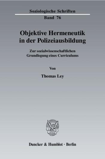 Cover: Objektive Hermeneutik in der Polizeiausbildung
