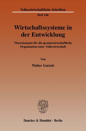 Cover: Wirtschaftssysteme in der Entwicklung