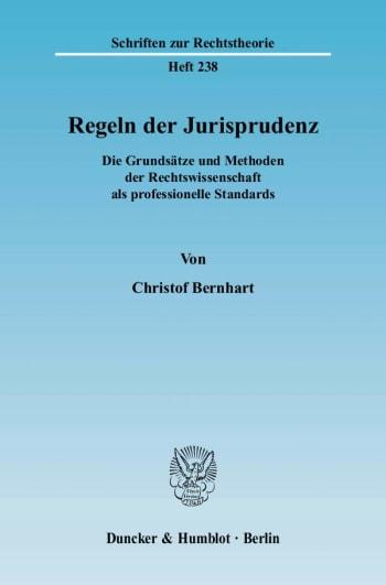 Cover: Regeln der Jurisprudenz