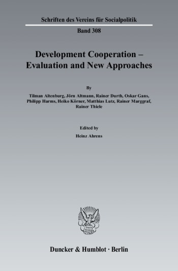 Cover: Development Cooperation - Evaluation and New Approaches