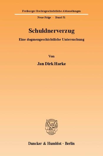 Cover: Schuldnerverzug