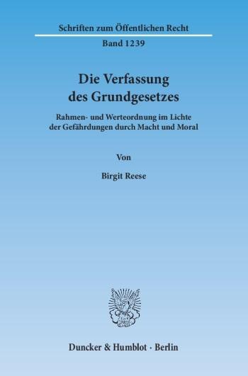 Cover: Die Verfassung des Grundgesetzes
