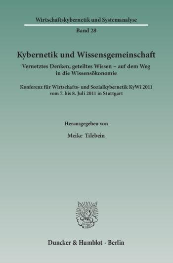Cover: Kybernetik und Wissensgemeinschaft