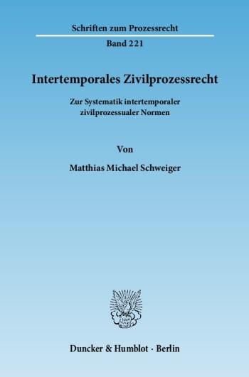 Cover: Intertemporales Zivilprozessrecht