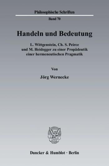 Cover: Handeln und Bedeutung