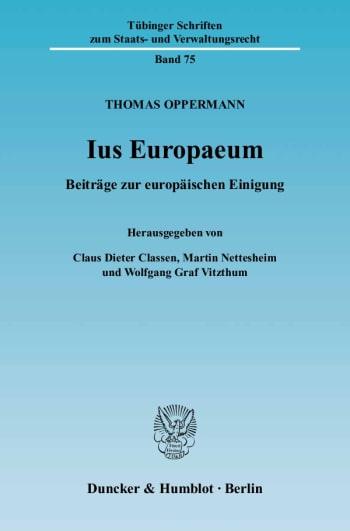Cover: Ius Europaeum