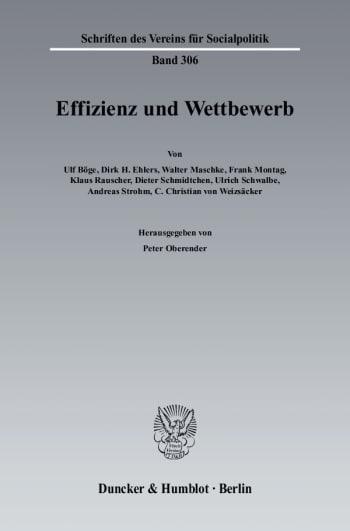 Cover: Effizienz und Wettbewerb