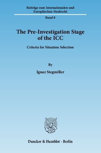 Cover: The Pre-Investigation Stage of the ICC
