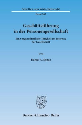 Cover: Geschäftsführung in der Personengesellschaft
