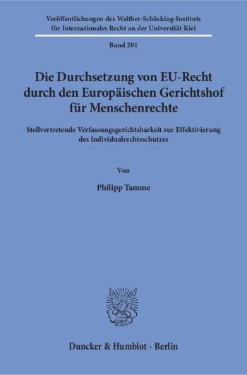 Cover: Veröffentlichungen des Walther-Schücking-Instituts für Internationales Recht an der Universität Kiel (VIIR)