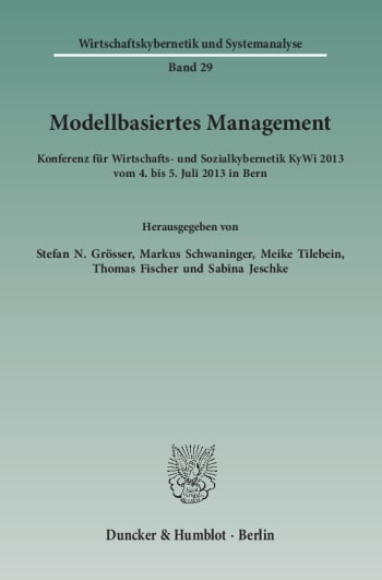 Cover: Modellbasiertes Management