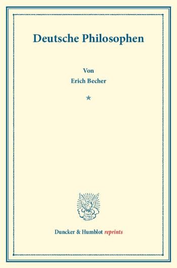 Cover: Deutsche Philosophen
