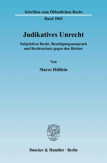 Cover: Judikatives Unrecht