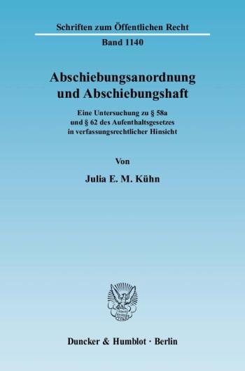 Cover: Abschiebungsanordnung und Abschiebungshaft