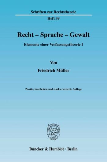 Cover: Recht - Sprache - Gewalt