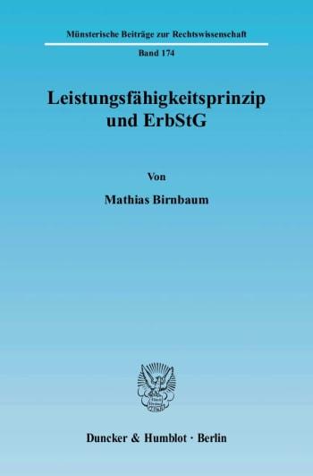 Cover: Leistungsfähigkeitsprinzip und ErbStG