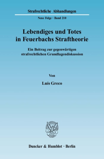 Cover: Lebendiges und Totes in Feuerbachs Straftheorie