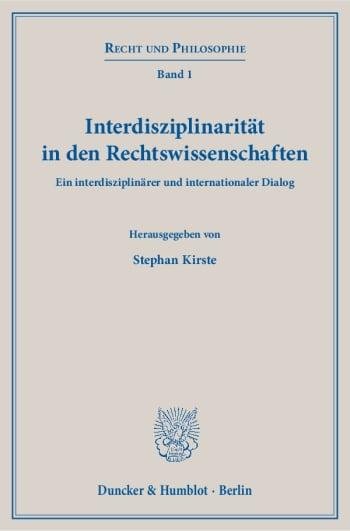Cover: Interdisziplinarität in den Rechtswissenschaften