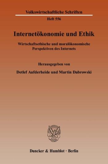Cover: Internetökonomie und Ethik